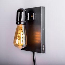 stalen wandlamp up&down zwart