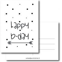 Happy Bday kaart