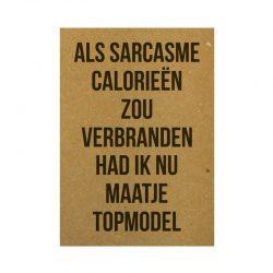 Als sarcasme kaart