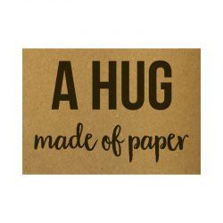 A Hug made of paper kaart