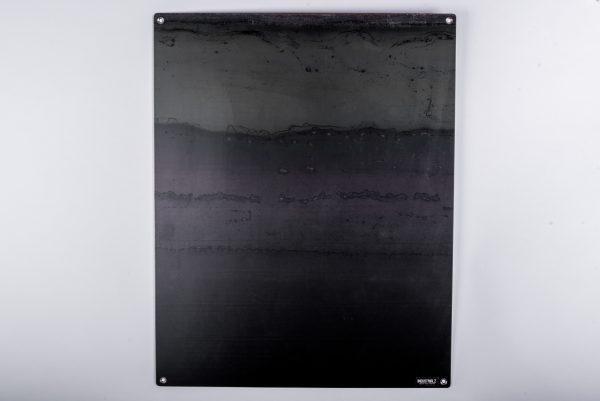Zwarte wandplaat leeg